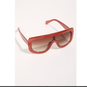 Free people She's In Charge Shield Sunglasses